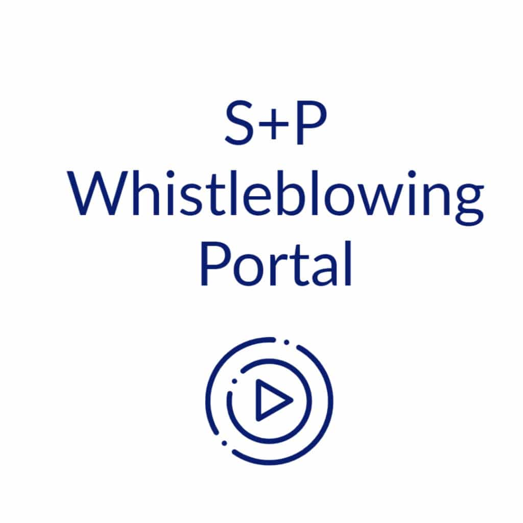 S+P Whistleblowing Portal